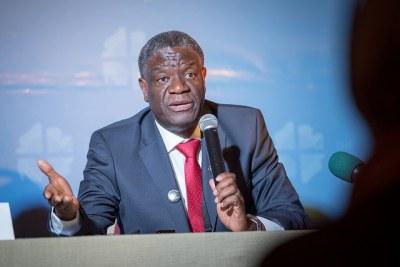 Dr Denis Mukwege, fondateur de l'Hôpital Panzi à Bukavu (RDC)