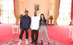 Kanye Gives Sneakers to Ugandan Children
