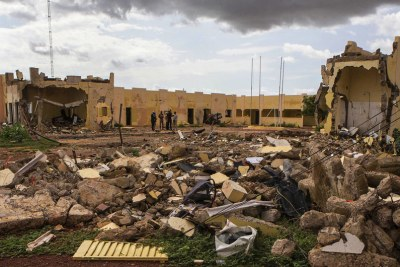 The G5 Sahel HQ destroyed by a terrorist attack on 29 June 2018 in Mopti, Mali (file photo).