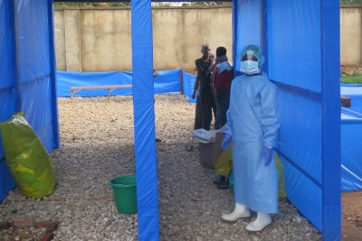 Center for the treatment of Ebola in Beni in North-Kivu