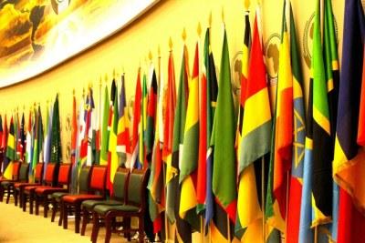 Drapeaux des pays membres de l'UA