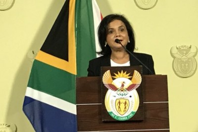 Advocate Shamila Batohi after her appointment as the new head of the National Prosecuting Authority (file photo).