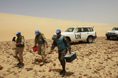 Peacekeepers have been stationed in Western Sahara since 1991 when the UN mission, MINURSO, was established (file photo).