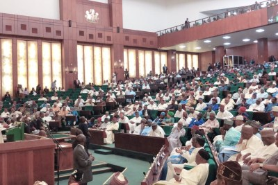 President Muhammadu Buhari at the 2019 budget presentation to the National Assembly