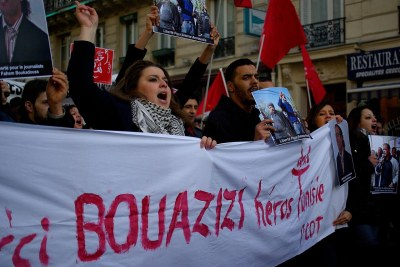 A French protest in support of Mohamed Bouazizi,
