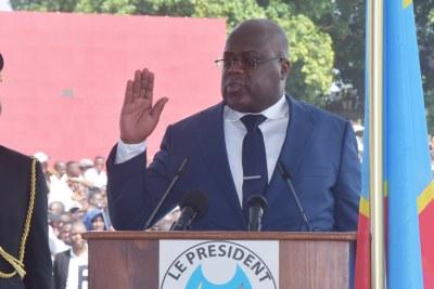 Félix Antoine Tshisekedi Tshilombo investi 5ème Président de la RDC