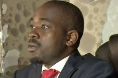 Nelson Chamisa, leader of MDC Alliance (file photo).