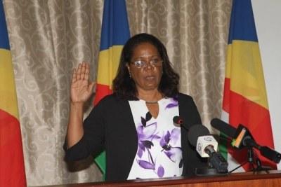 Lagrenade qui était la première femme à occuper ce poste, a été nommée par le président des Seychelles, Danny Faure, le 3 août 2018.