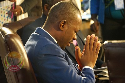Nelson Chamisa at the prayer breakfast.