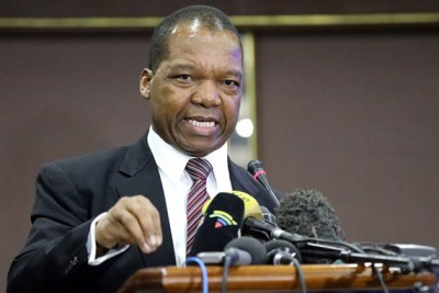 Reserve Bank Governor John Mangudya presents the Monetary Policy Statement.