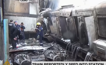 Dozens Killed in Crash and Fire at Cairo Train Station