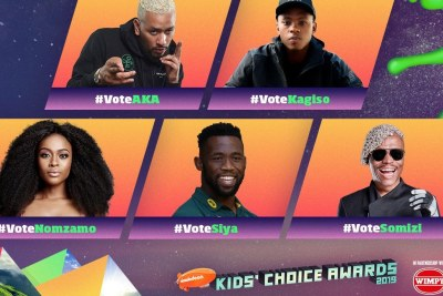 Nominees in the Favourite South African Star category.