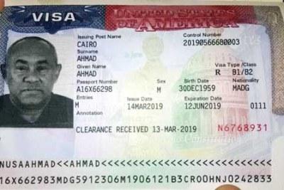 Visa - Ahmad, président de la CAF
