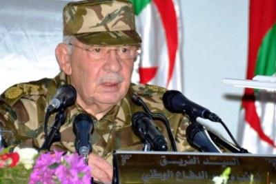 Le général de corps d'Armée, Ahmed Gaïd Salah, vice-ministre de la Défense nationale, chef d'Etat-major de l'Armée nationale populaire (ANP),
