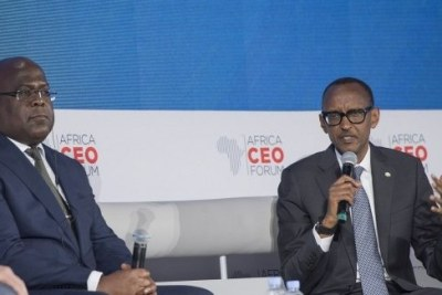 DR Congo President Félix Tshisekedi and Rwanda President Paul Kagame