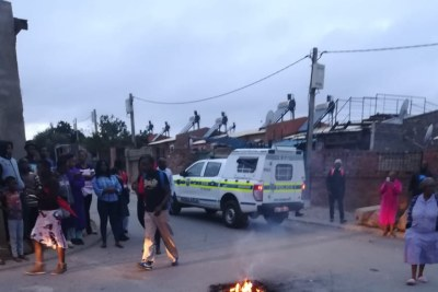 Service delivery protests in Alexandra.