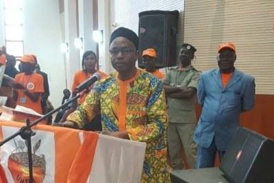 Saleh Kebzabo, Président de l'Union nationale pour la démocratie et le renouveau (UNDR),  député à l'Assemblée nationale du Tchad et opposant au régime d'Idriss Déby.