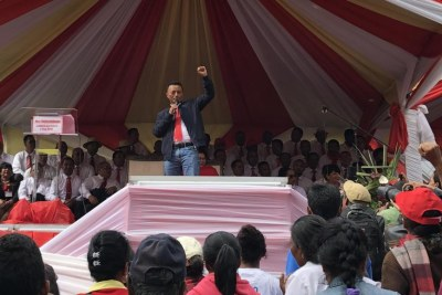 Marc Ravalomanana a présenté ses candidats aux élections législatives malgaches, le 4 mai 2019.