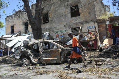 Car bomb in Mogadishu.