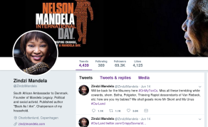 South Africa's Zindzi Mandela in Hot Water Over #OurLand Tweets