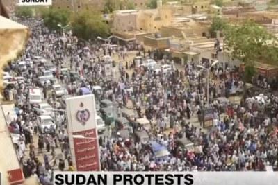 A protest in Sudan on June 30, 2019.