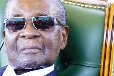 Former Zimbabwean president Robert Mugabe