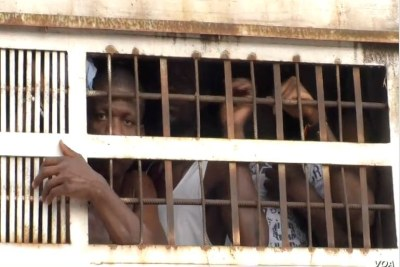 Prisoners are taken from the Kondengui Central Prison in Yaounde, Cameroon, July 23, 2019.