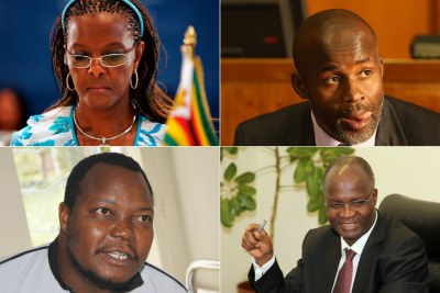 Former First Lady Grace Mugabe, Independent MP Temba Mliswa, MDC Alliance's Job Sikhala and exiled former minister Jonathan Moyo.