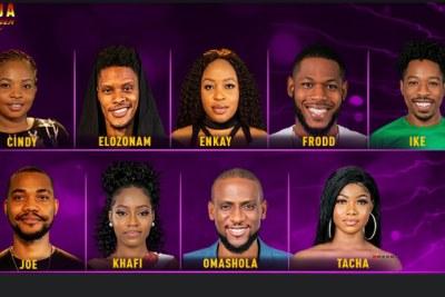 Cindy, Elozonam, Enkay, Frodd, Ike,  Joe, Khafi, Omashola and Tacha are up for Eviction.