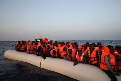 On 3 October, MSF carried out a rescue with an Irish ship. People had been in the water for quite a while by the time we arrived, and some had swallowed fuel and seawater.