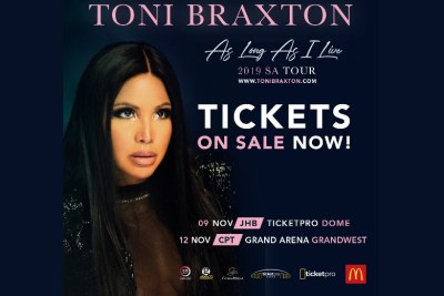 Toni Braxton as Long as I Live 2019 SA Tour.
