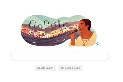 Google pays tribute to Cesária Évora on her 78th birthday.