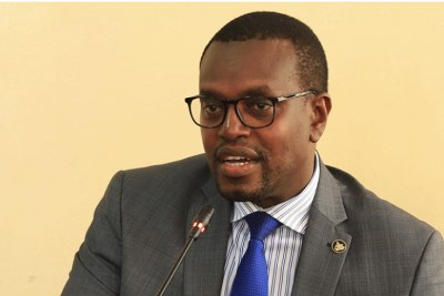 Prosecutor-General Jean Bosco Mutangana speaks during a news briefing in Kigali (file photo).