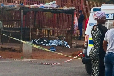 A South African passer-by was shot dead during attempts to loot migrants' shops near Johannesburg in 2019.