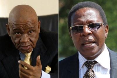Lesotho Prime Minister Thomas Thabane and ABC rival Nqosa Mahao.