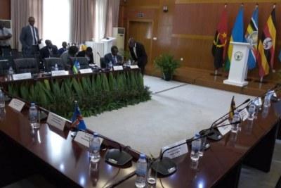 Rwanda and Ugandan officials meet in Kigali.