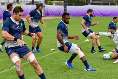Springboks training (file photo).