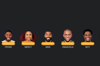 Frodd, Omatsola, Mercy, Mike and Seyi to fight for the grand prize.