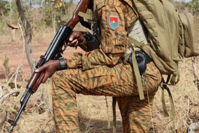 Burkina Faso military (File photo).