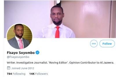 Fisayo Soyombo.