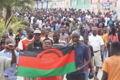 Malawi has been facing a wave of protests since President Peter Mutharika secured a second term in May, most them ending in violence (file photo),