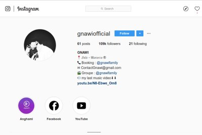 Rapper Gnawi's Instragram page.