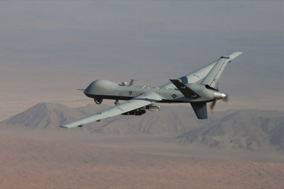 An MQ-9 Reaper drone, armed with laser-guided munitions (file photo).