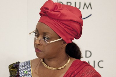 Diezani Alison-Madueke at the Ending Energy Poverty Session at the World Economic Forum on Africa held in Addis Ababa, Ethiopia (file photo).