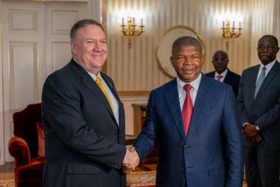 U.S. Secretary Michael Pompeo meeting with Angolan President João Lourenço.