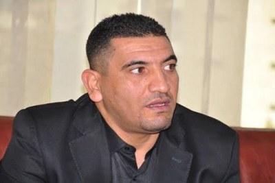 Karim Tabbou, militant et porte-parole de l'Union démocratique et sociale (UDS-non agréée)