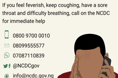 NCDC provides emergency details to call.