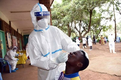Testing for the novel coronavirus (file photo)