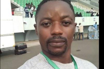 Le journaliste de la chaîne Chillen Media Television (CMTV) Samuel Wazizi, région de Buéa, Cameroun