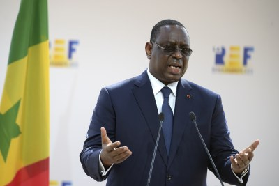 Le Président Macky Sall, au deuxième jour des Assises du Mouvement des entreprises de France (Medef)